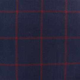 Tissu Tailleur sergé Alastor - bleu x 10cm