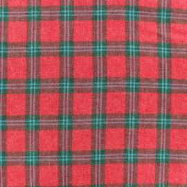 Tissu Tartan Barty - Rouge x 10cm