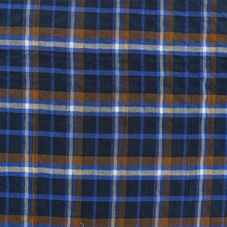 Check Cotton voile Fabric - blue x 10cm