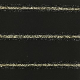 Lurex Polyester Fabric - Black x 10cm