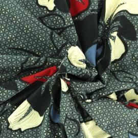 Soft touch Microfiber jersey fabric - Grey Léna x 10cm