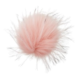 Round Faux Fur Pom Pom - Fluff XL Powder Pink