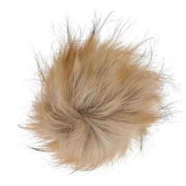 Round Faux Fur Pom Pom - Fluff XL Blond