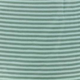 Tissu jersey tubulaire à rayure - vert/vert sauge x 10cm