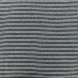 Tissu jersey tubulaire à rayure - gris/taupe x 10cm