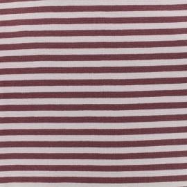 Tissu jersey tubulaire à rayure - violet/mauve x 10cm