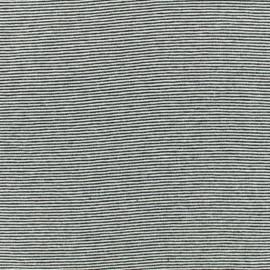Tissu jersey tubulaire fines rayures - noir x 10cm