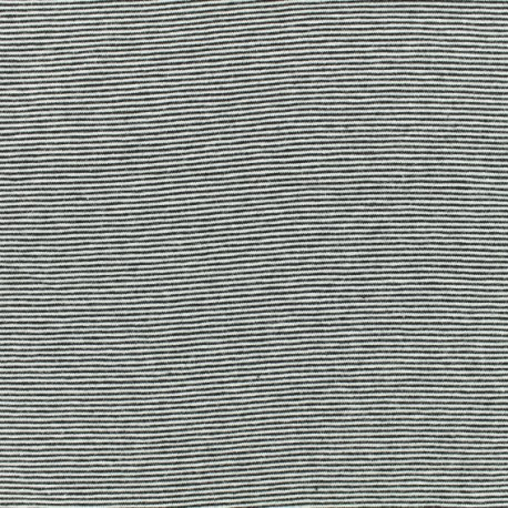 Tubular Jersey fabric -Black fine Stripes x 10 cm
