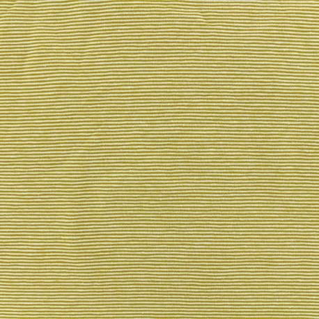 Tubular Jersey fabric -Black fine Stripes x 10 cm