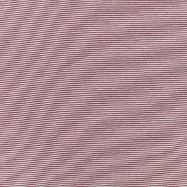 Tissu jersey tubulaire fines rayures - Violet/mauve x 10cm