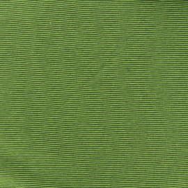 Tissu jersey tubulaire fines rayures - vert x 10cm