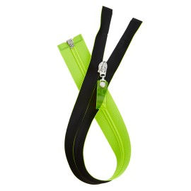 Waterproof Open-End Zipper - Neon Yellow