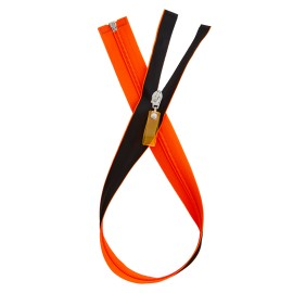 Waterproof Open-End Zipper - Neon Orange