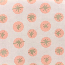 Cotton fabric Snowflakes by Rico Design - Pink x 10cm
