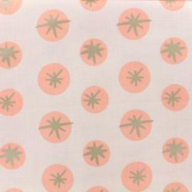 Tissu coton Rico Design Snowflakes - Rose x 10cm