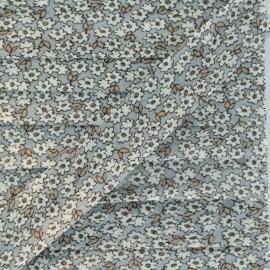 Biais Coton Multifleur - Gris x 1m