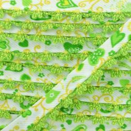 Biais Replié Bord Crochet Élo 10 mm - Citron Vert x 1m