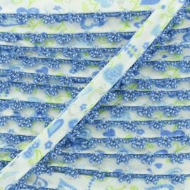 Biais Replié Bord Crochet Élo 10 mm - Océan x 1m