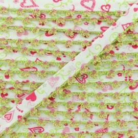 Biais Replié Bord Crochet Élo 10 mm - Candy x 1m