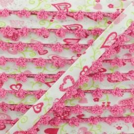 Biais Replié Bord Crochet Élo 10 mm - Fuchsia x 1m