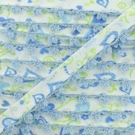 Biais Replié Bord Crochet Élo 10 mm - Bleu x 1m