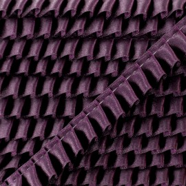 15 mm Pleated Satin Braid Trimmings - Eggplant x 1m