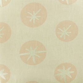 Cotton fabric Snowflakes by Rico Design - Linen Aspect x 10cm