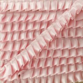 Ruban Galon Satin Plissé 15 mm - Rose Dragée x 1m