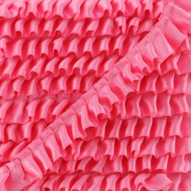 15 mm Pleated Satin Braid Trimmings - Candy Pink x 1m