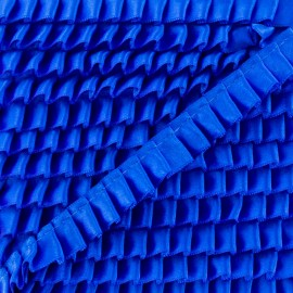 15 mm Pleated Satin Braid Trimmings - Royal Blue x 1m