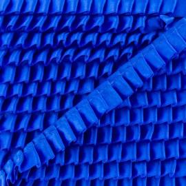 Ruban Galon Satin Plissé 15 mm - Bleu Roi x 1m
