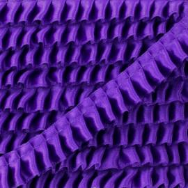 Ruban Galon Satin Plissé 15 mm - Violet x 1m