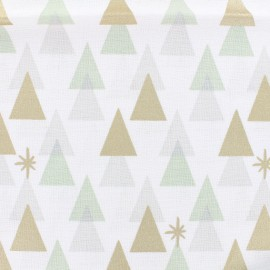 Cotton fabric Graphical Firs by Rico Design - white x 10cm