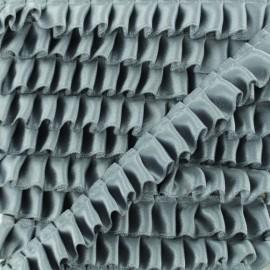 Pleated Satin Braid Trimmings - Grey x 1m