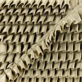 Pleated Satin Braid Trimmings - Beige x 1m