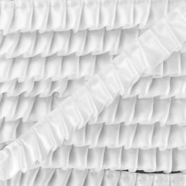 Pleated Satin Braid Trimmings - White x 1m