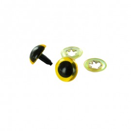 Safety eyes Dog (a pair) - yellow