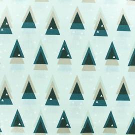 Tissu coton Rico Design Graphical Firs - Blanc x 10cm