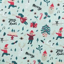 Cotton fabric Elves by Rico Design - Mint x 10cm