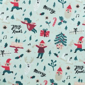 Tissu coton Rico Design Elfes - menthe x 10cm