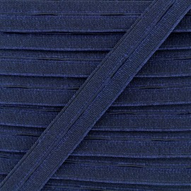 20 mm High Quality Elastic Buttonhole - Navy x 1m