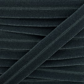 20 mm High Quality Elastic Buttonhole - Black x 1m