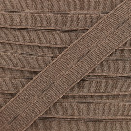 20 mm High Quality Elastic Buttonhole - Brown x 50cm