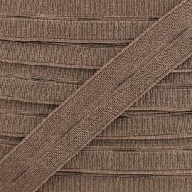 Elastique Boutonnière Haute Qualité 20 mm - Marron x 1m