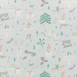 Cotton fabric Elves by Rico Design - grey x 10cm