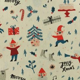 Tissu coton Rico Design Elfes - aspect lin x 10cm