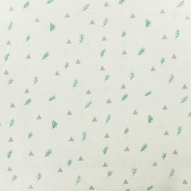 Cotton fabric Branches by Rico Design - ecru x 10cm