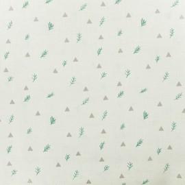 Tissu coton Rico Design Branches - écru x 10cm