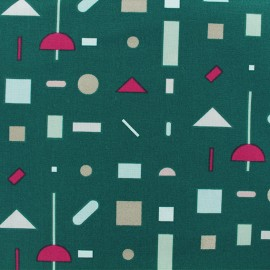 Cotton fabric Jolly collection by Rico Design - green Graphical Pattern x 10cm