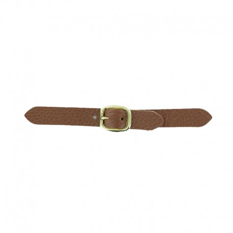 Leather Kilt Strap with Buckle Andrea - Caramelo